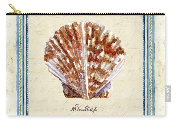 Serene Shores - Scallop Shell Carry-all Pouch