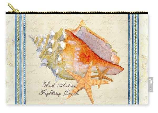 Serene Shores - West Indies Fighting Conch N Starfish Carry-all Pouch