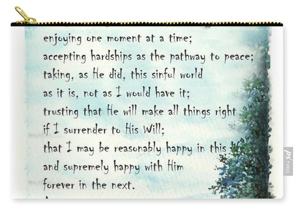 Serenity Prayer The Full Version Carry-all Pouch