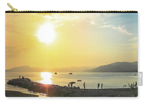 Carry-all Pouch featuring the photograph Sestri Levante Baia Delle Favole by Benny Marty