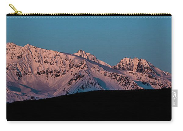 Setting Moon Over Alaskan Peaks Vi Carry-all Pouch