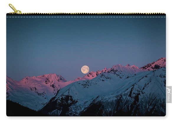 Setting Moon Over Peaks IIi Carry-all Pouch
