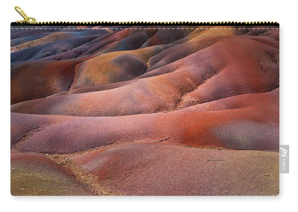Seven Colored Earth In Chamarel 8. Series Earth Bodyscapes. Mauritius Carry-all Pouch