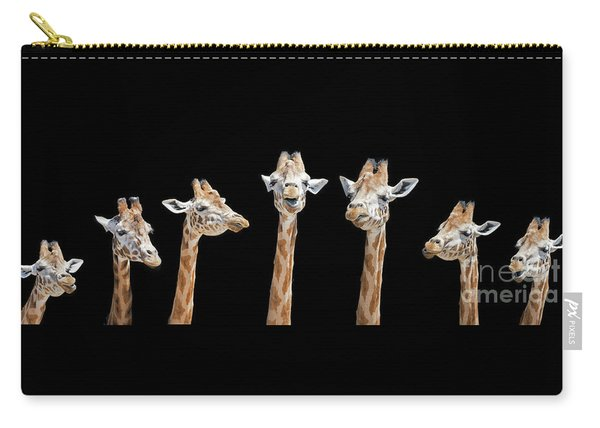 Seven Giraffes With Different Facial Expressions Carry-all Pouch