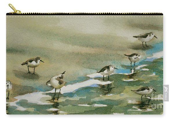 Seven Sandpipers At The Seashore  Carry-all Pouch