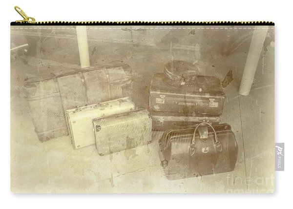 Several Vintage Bags On Floor Carry-all Pouch
