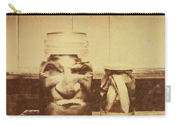 Severed And Preserved Head And Hand In Jars Carry-all Pouch
