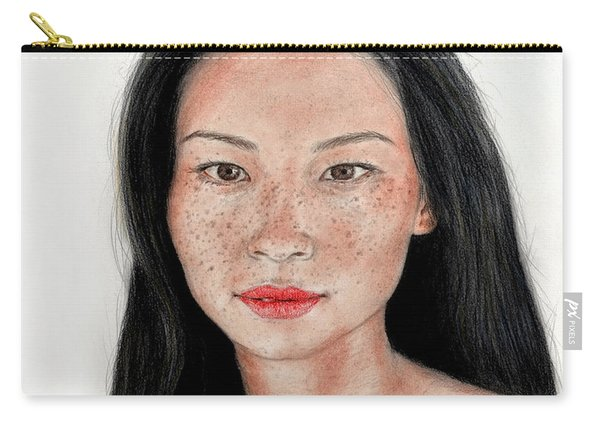 Sexy Freckle Faced Beauty Lucy Liu Carry-all Pouch