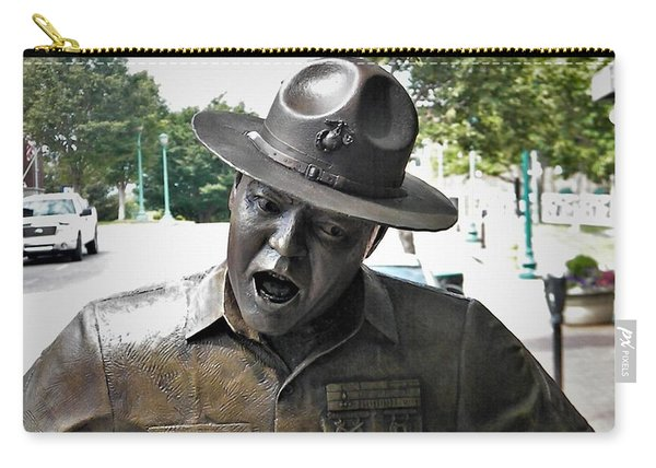 Sgt. Carter Statue In Clarksville, Tn Carry-all Pouch