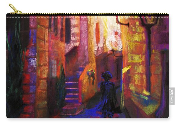 Carry-all Pouch featuring the painting Shabbat Shalom by Talya Johnson