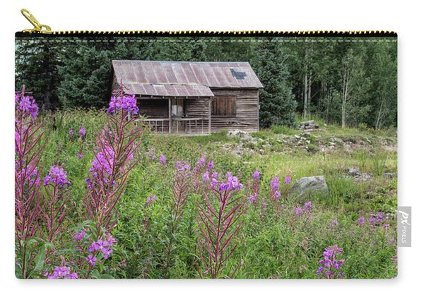 Shack With Fireweed Carry-all Pouch