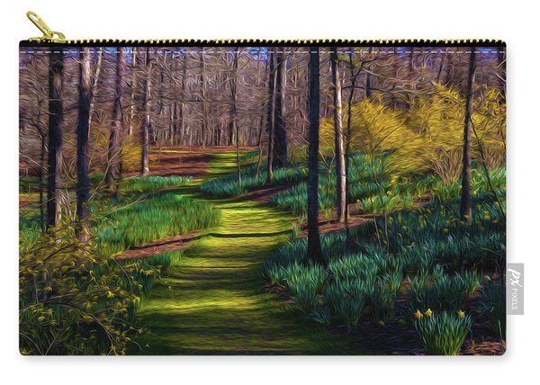 Shaded Spring Stroll Carry-all Pouch