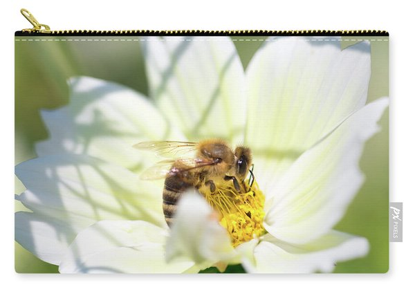 Carry-all Pouch featuring the photograph Shadowy Bee by Brian Hale