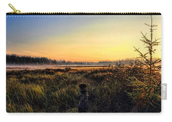 Sharing A September Sunrise With A Retriever Carry-all Pouch