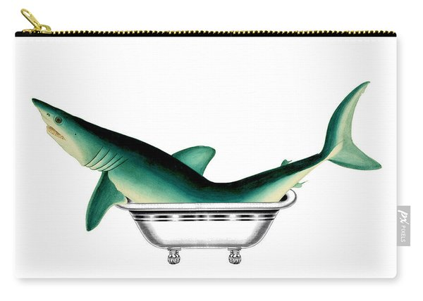 Shark In The Bath Carry-all Pouch