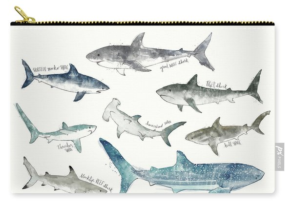 Sharks - Landscape Format Carry-all Pouch