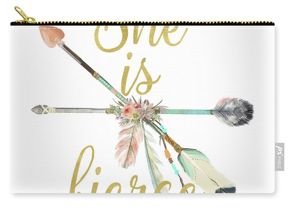 She Is Fierce Boho Tribal Gold Blush Arrow Print Carry-all Pouch
