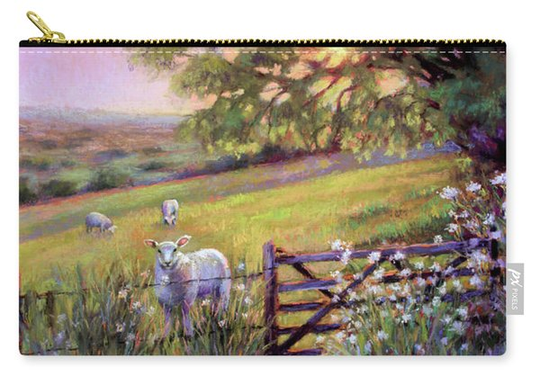 Sheep At Sunset Carry-all Pouch
