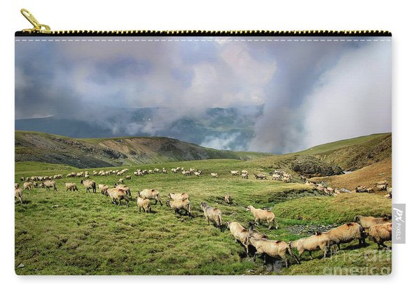 Sheep In Carphatian Mountains Carry-all Pouch