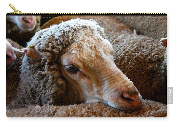 Sheep To Be Sheared Carry-all Pouch