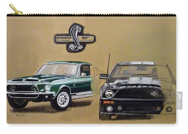 Carry-all Pouch featuring the painting Shelby 40th Anniversary by Richard Le Page