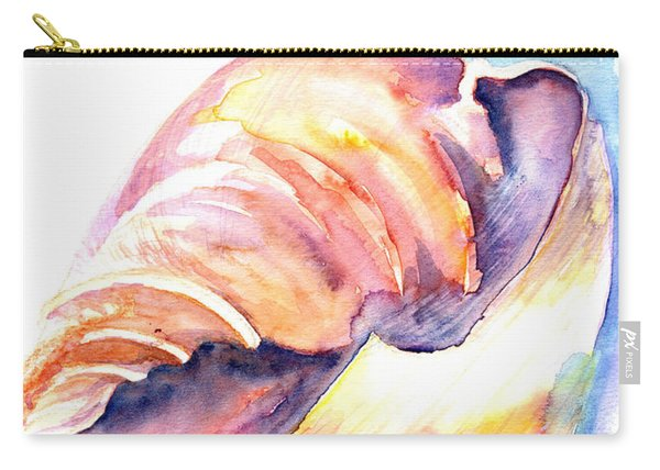 Carry-all Pouch featuring the painting Shell Mouth by Ashley Kujan