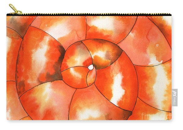 Shell Shock Watercolor Carry-all Pouch