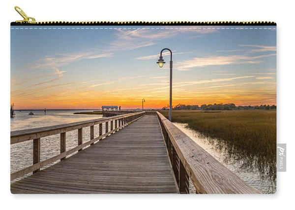 Shem Creek Pier Panoramic Carry-all Pouch