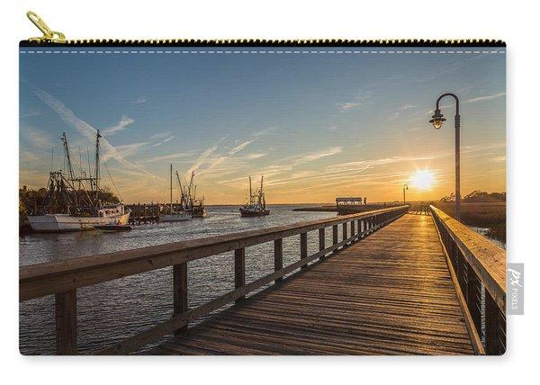 Shem Creek Pier Sunset - Mt. Pleasant Sc Carry-all Pouch
