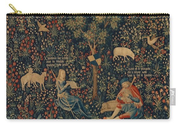 Shepherd And Shepherdess Making Music Carry-all Pouch