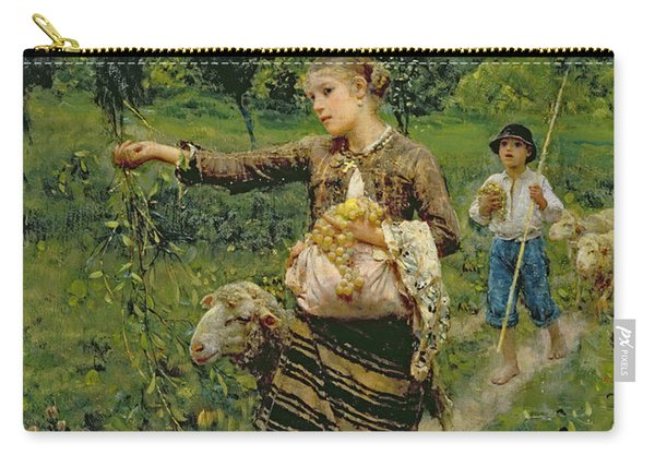 Shepherdess Carrying A Bunch Of Grapes Carry-all Pouch