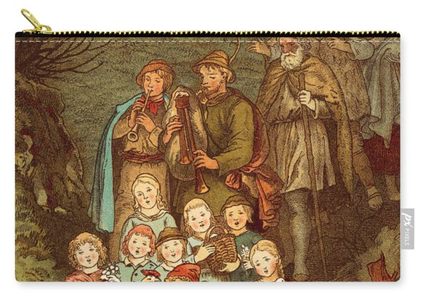 Shepherds On Their Way To Bethlehem Carry-all Pouch