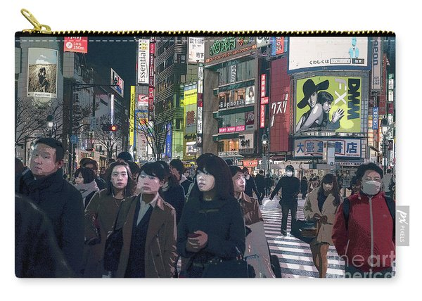 Shibuya Crossing, Tokyo Japan Poster 2 Carry-all Pouch