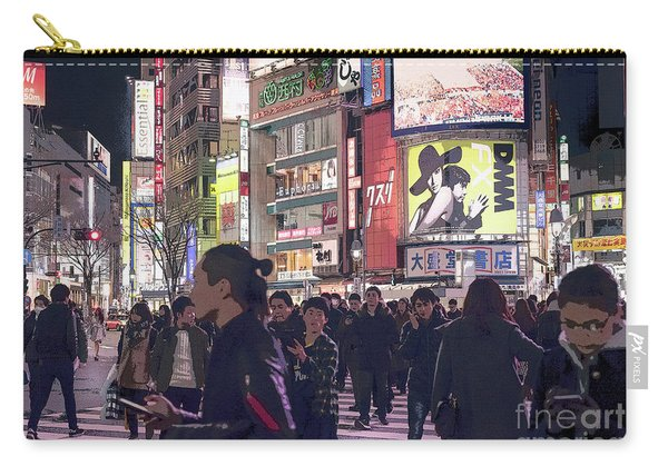 Shibuya Crossing, Tokyo Japan Poster 3 Carry-all Pouch