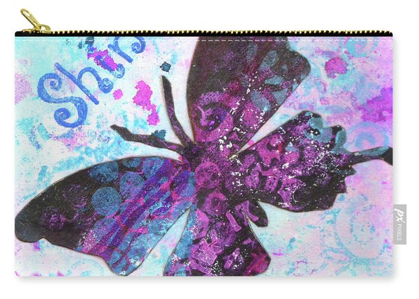 Shine Butterfly Carry-all Pouch