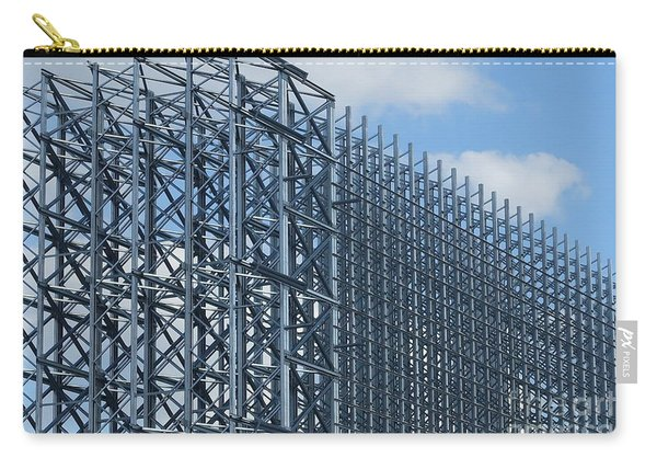 Shiny Steel Construction In Nature Carry-all Pouch