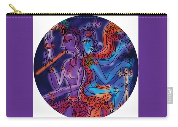 Shiva And Krishna Carry-all Pouch