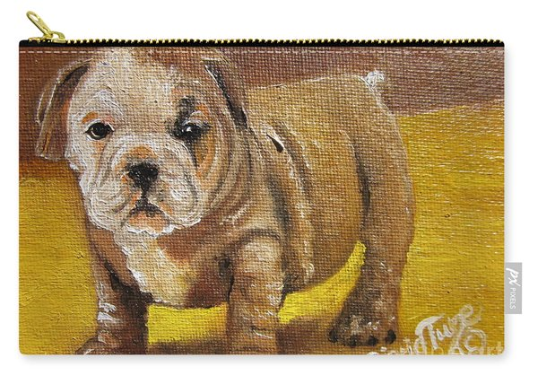 Chloe The   Flying Lamb Productions      Shortstop The English Bulldog Pup Carry-all Pouch