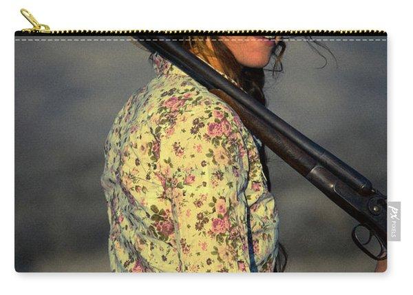 Shotgun Annie Western Art By Kaylyn Franks Carry-all Pouch