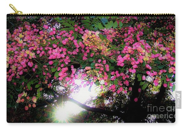 Shower Tree Flowers And Hawaii Sunset Carry-all Pouch