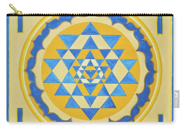 Shri Yantra For Meditation Painted Carry-all Pouch