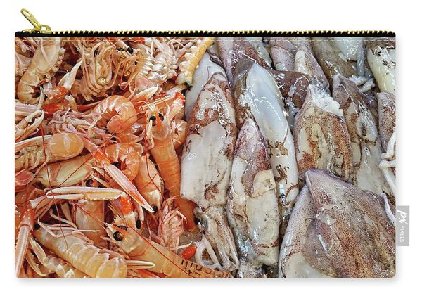 Shrimp And Squid - Port Santo Stefano, Italy Carry-all Pouch