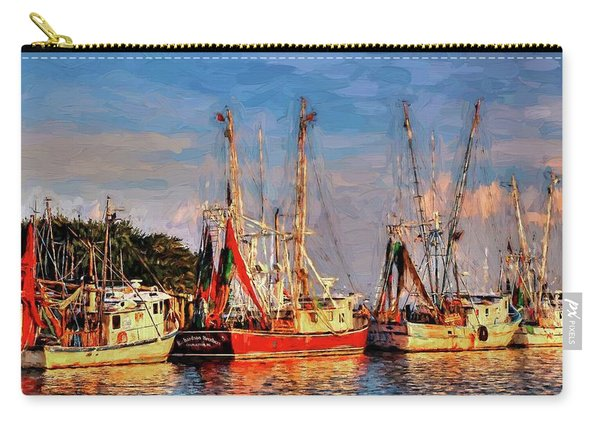 Shrimp Boats Shem Creek In Mt. Pleasant  South Carolina Sunset Carry-all Pouch