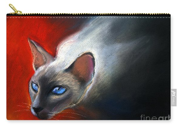 Siamese Cat 7 Painting Carry-all Pouch