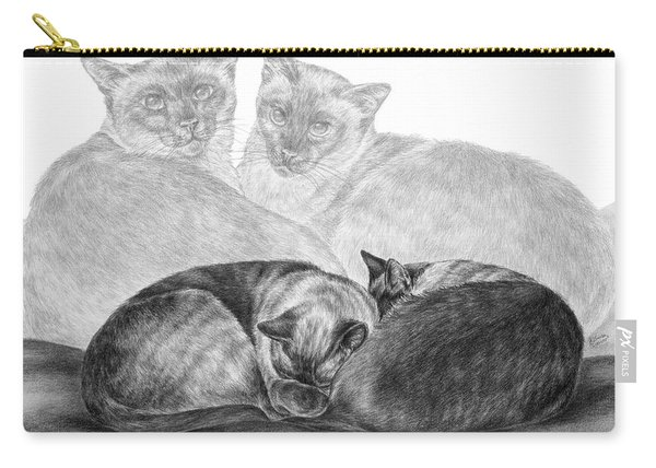 Siamese Cat Siesta Carry-all Pouch