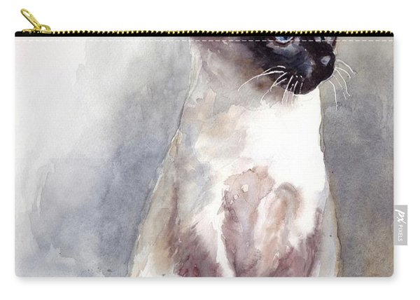 Siamese Kitten Portrait Carry-all Pouch
