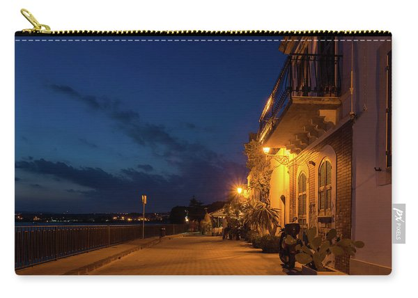 Sicilian Blue Hour At Syracuse Seaside Promenade Carry-all Pouch
