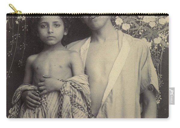 Sicilian Boy And Girl Before Floral Textile Carry-all Pouch