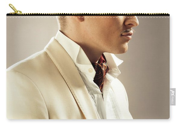 Side Profile Of Character Playing Errol Flynn Carry-all Pouch