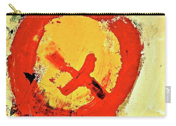 Carry-all Pouch featuring the painting Signal  by Cliff Spohn